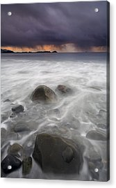 Fingers Of The Storm Acrylic Print by Mike  Dawson