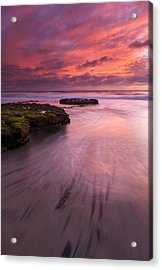 Fingers Of The Tide Acrylic Print by Mike  Dawson