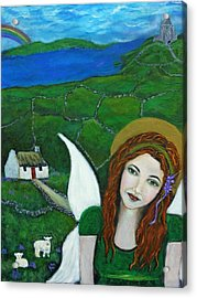 Fiona An Irish Earthangel Acrylic Print by The Art With A Heart By Charlotte Phillips