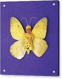Fiona Butterfly Acrylic Print by Anne Geddes