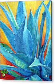 Fire And Ice Acrylic Print by Athena  Mantle