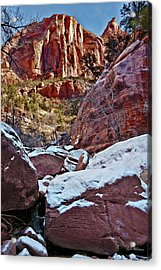 Fire And Ice Acrylic Print by Christopher Holmes