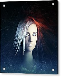 Fire And Ice Portrait Acrylic Print by Johan Swanepoel