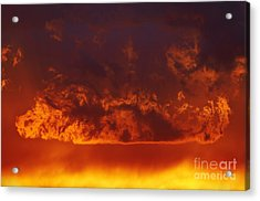 Fire Clouds Acrylic Print by Michal Boubin