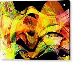 Fire Acrylic Print by Contemporary Art