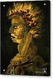 Fire Acrylic Print by Giuseppe Arcimboldo