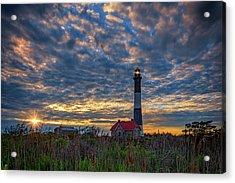 Fire Island Lighthouse At Sunset Acrylic Print by Rick Berk