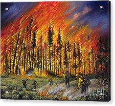 Fire Line 1 Acrylic Print by Ricardo Chavez-Mendez