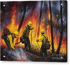 Fire Line 2 Acrylic Print by Ricardo Chavez-Mendez