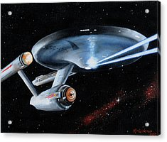 Fire Phasers Acrylic Print by Kim Lockman