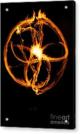 Fire Spinning Acrylic Print by Darcy Evans