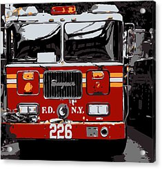 Fire Truck Color 6 Acrylic Print by Scott Kelley