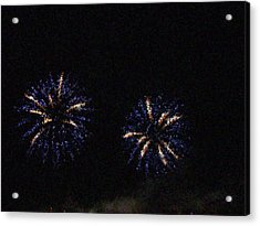 Fire Works Show Stippled Paint 1 Canada Acrylic Print by Dawn Hay
