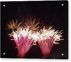 Fire Works Show Stippled Paint 7 Canada Acrylic Print by Dawn Hay