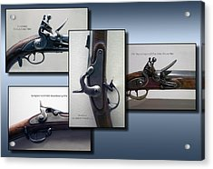 Firearms Flintlock Collage Acrylic Print by Thomas Woolworth