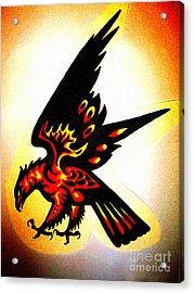 Firebird Acrylic Print by Sally Siko