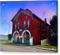 Firehouse No 10 Acrylic Print by Julie Dant