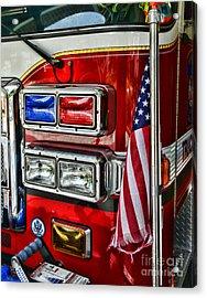 Fireman - Fire Truck Acrylic Print by Paul Ward