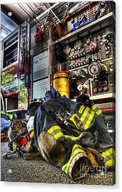 Fireman - Always Ready For Duty Acrylic Print by Lee Dos Santos