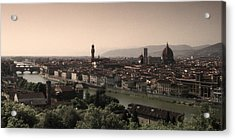 Firenze At Sunset Acrylic Print by Andrew Soundarajan