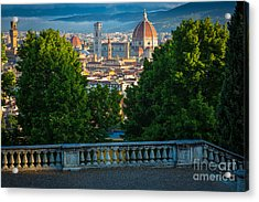 Firenze Vista Acrylic Print by Inge Johnsson