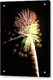 Fireworks From A Boat - 9 Acrylic Print by Jeffrey Peterson