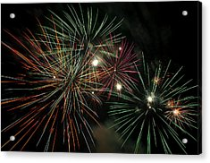 Fireworks Acrylic Print by Glenn Gordon