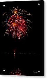 Fireworks II Acrylic Print by Christopher Holmes