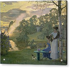 Fireworks Acrylic Print by Konstantin Andreevic Somov