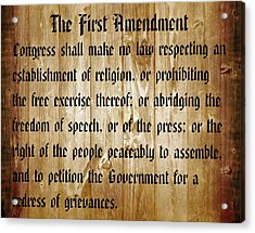 First Amendment Barn Door Acrylic Print by Dan Sproul