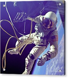 First American Walking In Space, Edward Acrylic Print by Nasa