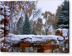 First Colorful Autumn Snow Acrylic Print by James BO  Insogna