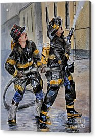 First Due-engine  73 Acrylic Print by Paul Walsh