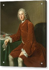 First Earl Of Chatham Acrylic Print by William Hoare