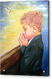 First Holy Communion Acrylic Print by Dave Manning