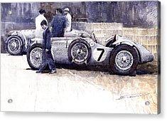 First Met Up Talbot Lago Le Mans 1950 Acrylic Print by Yuriy  Shevchuk