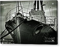 First Of Her Class. Last Of The Fleet Acrylic Print by Chris Cardwell
