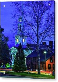 First Parish Church - Concord Ma Acrylic Print by Joann Vitali
