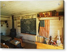 First School In Montana Acrylic Print by Panoramic Images