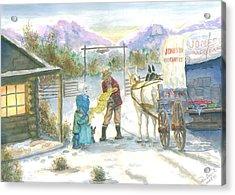First Snow - Last Call Acrylic Print by Dan Bozich