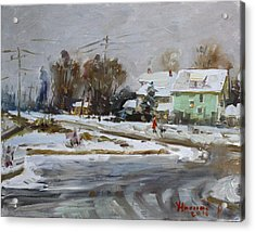 First Snow For This Winter Acrylic Print by Ylli Haruni