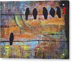 First Step Is The Dream Acrylic Print by Blenda Studio