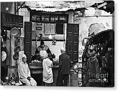 Fish Shop Acrylic Print by Marion Galt