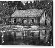 Fisherman Acrylic Print by Jerry Winick