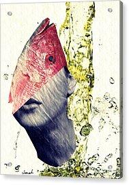 Fishhead Acrylic Print by Sarah Loft