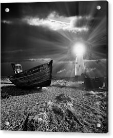 Fishing Boat Graveyard 7 Acrylic Print by Meirion Matthias