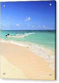 Fishing Boats In Caribbean Sea Acrylic Print by Elena Elisseeva