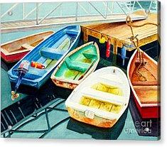 Fishing Boats Acrylic Print by Karen Fleschler