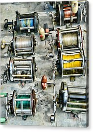 Fishing - Fishing Reels Acrylic Print by Paul Ward