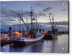Fishing Fleet Acrylic Print by Randy Hall